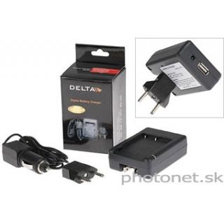 Delta nabíjačka s USB pre Canon NB-6L