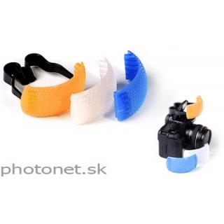 Difuzer set - biely, oranžový, modrý - pre interný blesk