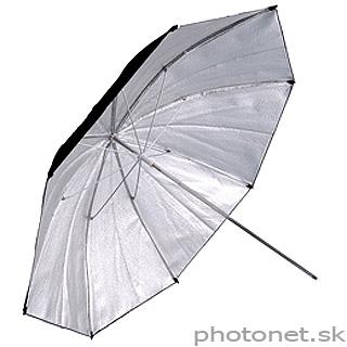 Kood štúdiový dáždnik  84cm strieborný špeciál