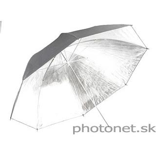 Quantuum štúdiový dáždnik 150cm strieborný