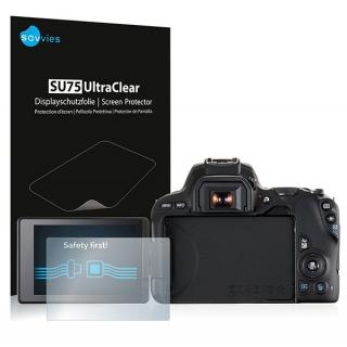 Savvies SU75 UltraClear ochranná fólia LCD 6ks pre Canon 200D