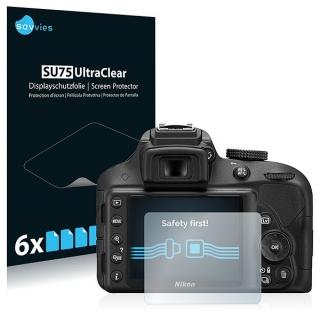 Savvies SU75 UltraClear ochranná fólia LCD 6ks pre Nikon D3300
