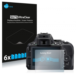 Savvies SU75 UltraClear ochranná fólia LCD 6ks pre Nikon D5500